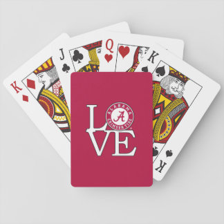Alabama Crimson Tide Love Playing Cards