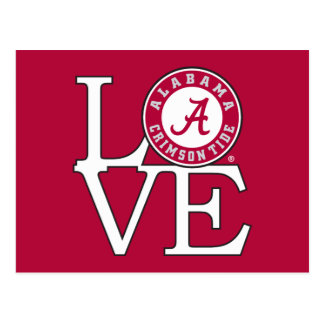 Alabama Crimson Tide Love Postcard