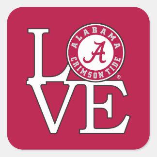 Alabama Crimson Tide Love Square Sticker