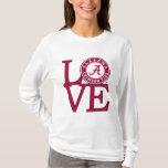 Alabama Crimson Tide Love T-Shirt
