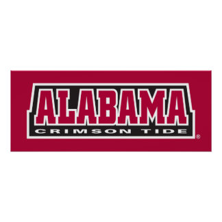 Alabama Crimson Tide Mark Poster