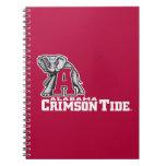 Alabama Crimson Tide Spiral Note Books