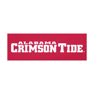 Alabama Crimson Tide Wordmark Canvas Print