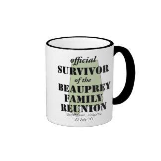 Alabama Custom Family Reunion Survivor (green) Ringer Coffee Mug