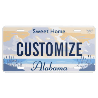 Alabama Custom License Plate
