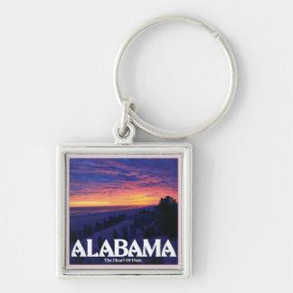 Alabama Dark Sunset Keychain
