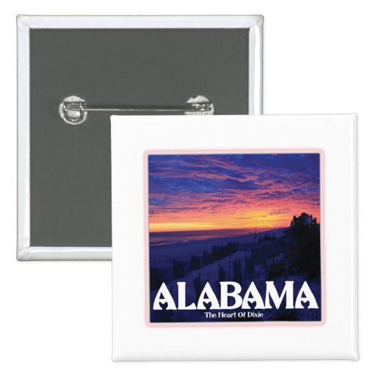 Alabama Dark Sunset Pinback Button