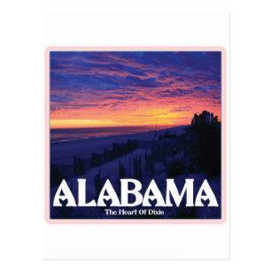 Alabama Dark Sunset Postcard