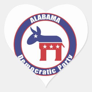 Alabama Democratic Party Heart Sticker