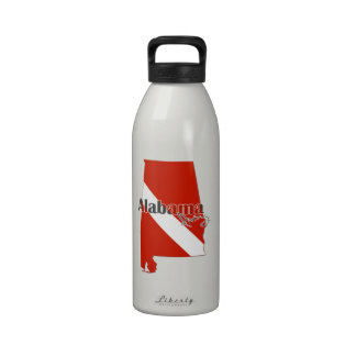 Alabama Diver Flag State Silhouette Drinking Bottle