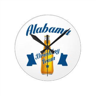 Alabama Drinking team Round Clock