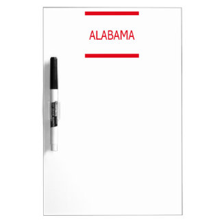 Alabama Dry Erase Board with Pen