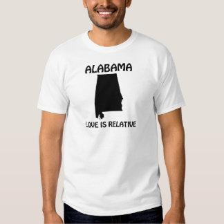Alabama - el amor es relativo playeras