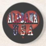 Alabama el corazón de DixieCoaster Posavasos Cerveza