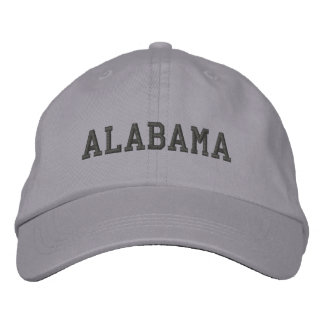 Alabama Embroidered Adjustable Cap Cool Grey