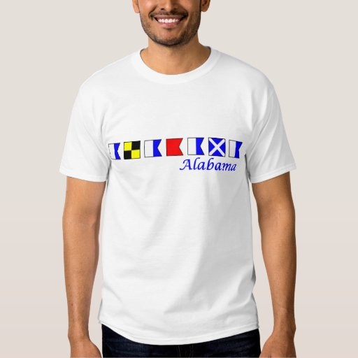 Alabama en alfabeto náutico de la bandera camisas