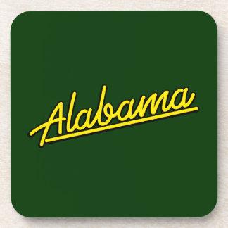 Alabama en amarillo posavasos