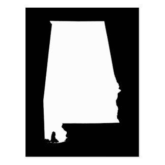Alabama en blanco tarjetas postales