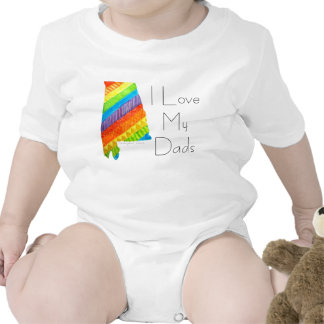 """Alabama Equality """"I Love My Dads"""" Body Suit Romper"""