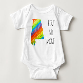 "Alabama Equality ""I Love My Moms"" Body Suit Baby Bodysuit"