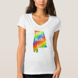 "Alabama Equality ""Y'all Means All"" V-neck Tee"