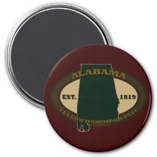 Alabama Est. 1819 3 Inch Round Magnet