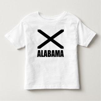 Alabama Flag Black X And Text T Shirt
