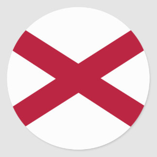 Alabama Flag Classic Round Sticker