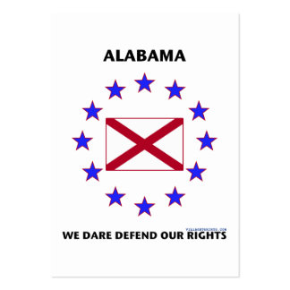 Alabama Flag Defend Our Rights Large Business Cards (Pack Of 100)