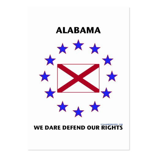 Alabama Flag Defend Our Rights Business Card