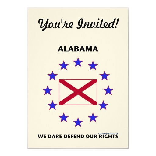 Alabama Flag Defend Our Rights Card