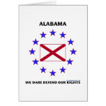 Alabama Flag Defend Our Rights Cards