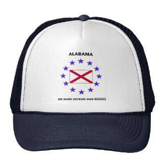 Alabama Flag Defend Our Rights Trucker Hat