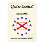 """Alabama Flag Defend Our Rights 5"""" X 7"""" Invitation Card"""