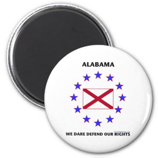 Alabama Flag Defend Our Rights 2 Inch Round Magnet