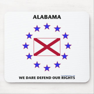 Alabama Flag Defend Our Rights Mouse Pad