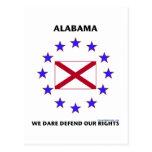 Alabama Flag Defend Our Rights Postcard