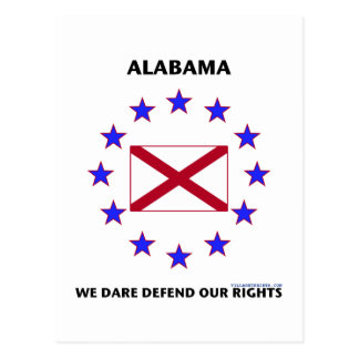 Alabama Flag Defend Our Rights Postcard