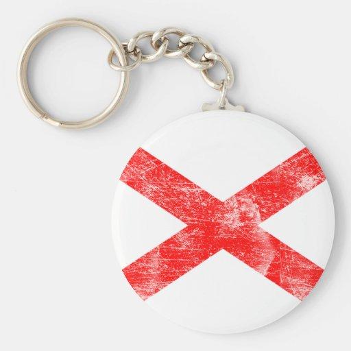 Alabama Flag (Distressed) Keychain