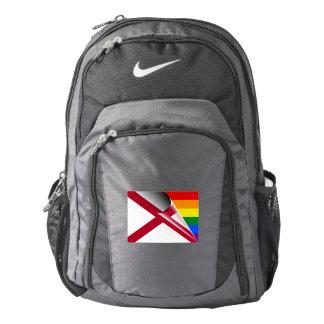 Alabama Flag Gay Pride Rainbow Nike Backpack
