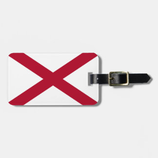 Alabama flag luggage tag