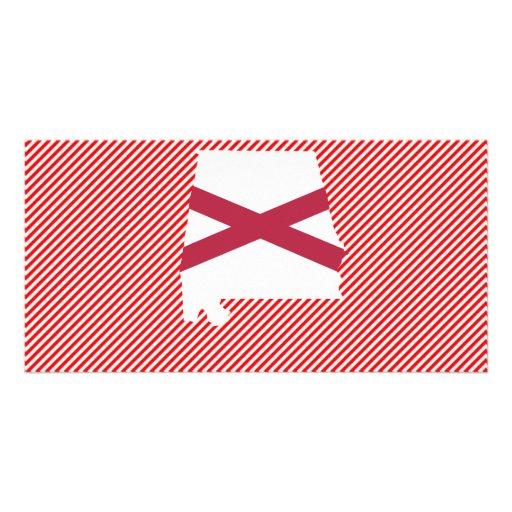 Alabama Flag Map Photo Card