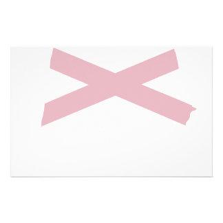 Alabama Flag Map Stationery