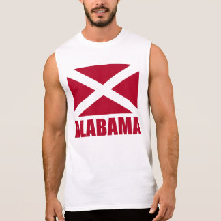 Alabama Flag Negative Image Sleeveless Shirt