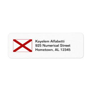 Alabama Flag Return Address Label