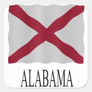 Alabama flag square sticker