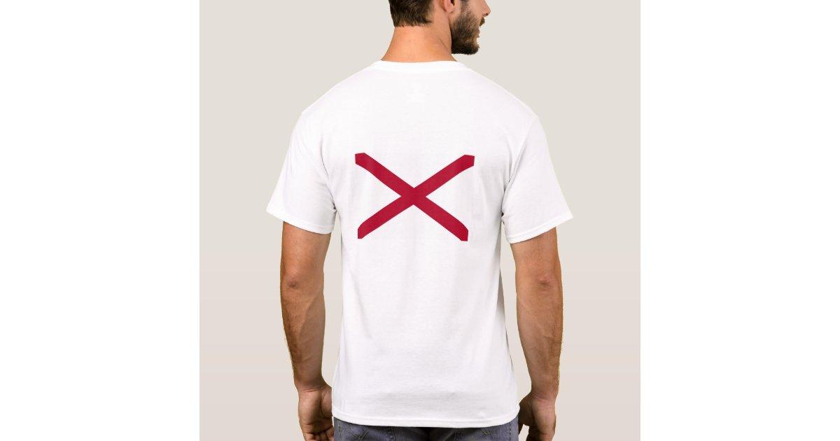 Alabama flag t shirt zazzle for T shirt printing mobile al