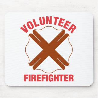 Alabama Flag Volunteer Firefighter Cross Mouse Pad