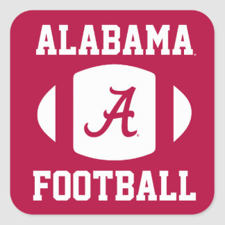 Alabama Football Square Sticker