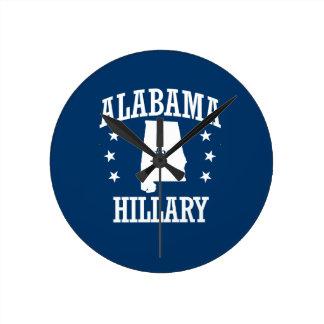 ALABAMA FOR HILLARY ROUND CLOCKS